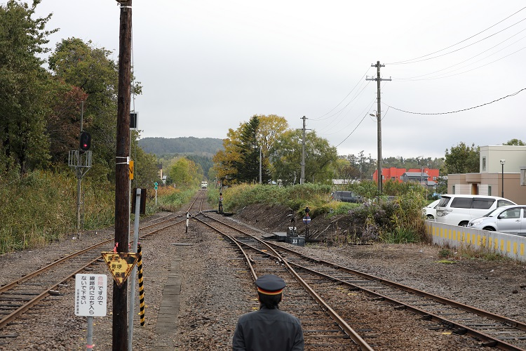 札沼線石狩月形駅新十津川方面からの列車