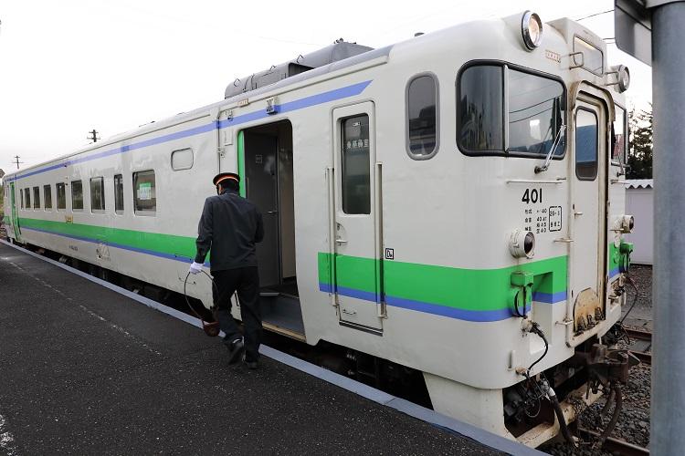札沼線石狩月形駅タブレット交換