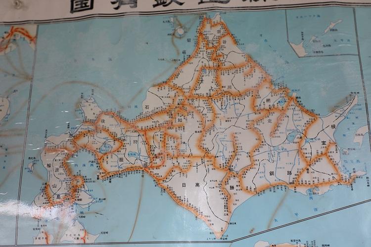 札沼線新十津川駅北海道国鉄路線図