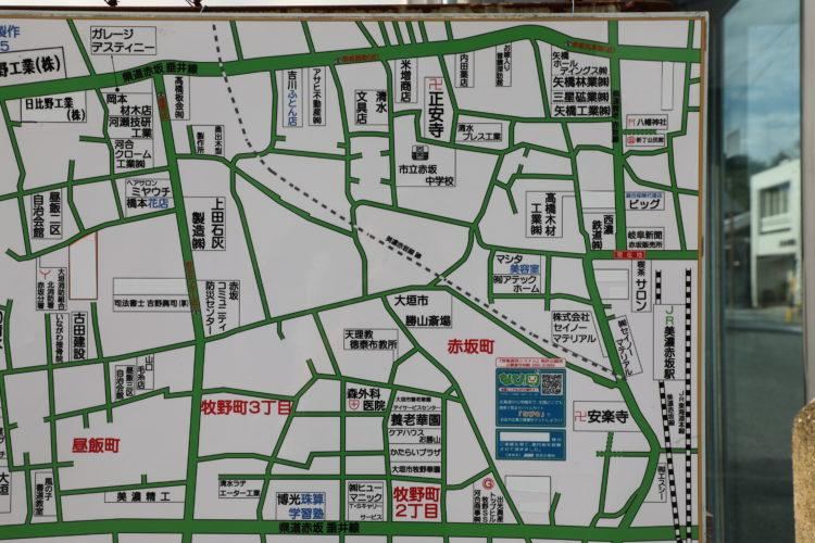 西濃鉄道昼飯線跡の地図