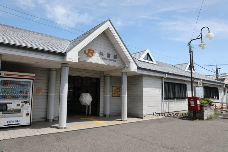 関西本線弥富駅駅舎