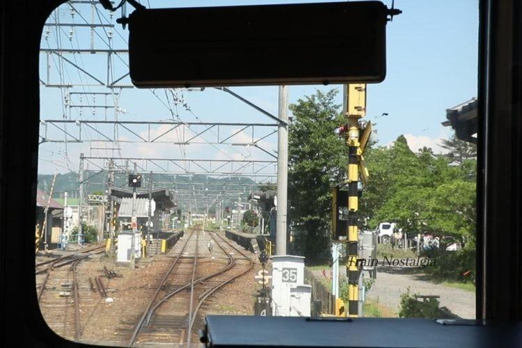 名鉄広見線明智駅到着直前