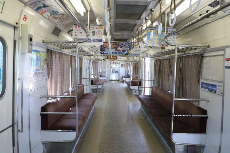 名鉄6000系ワンマン列車車内