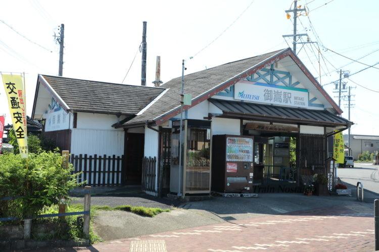 名鉄広見線御嶽駅駅舎