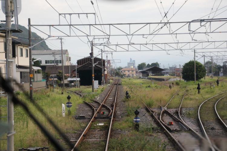 東海道本線美濃赤坂駅到着直前