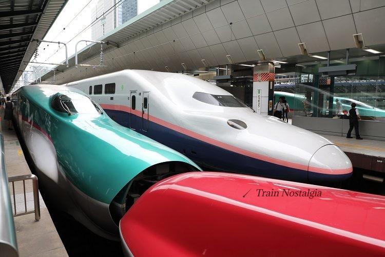 東京駅新幹線ホームとE4,E5,E6